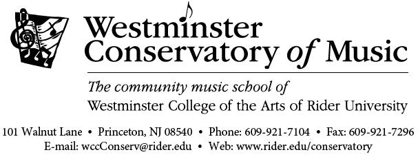 Westminster Conservatory Music