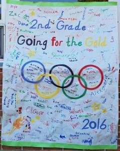 2nd Grade Field Day banner, 2016