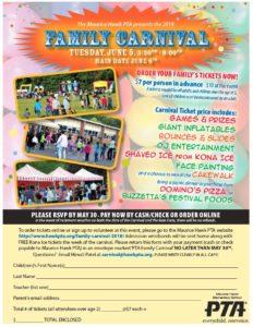 family carnival 2018 maurice hawk pta