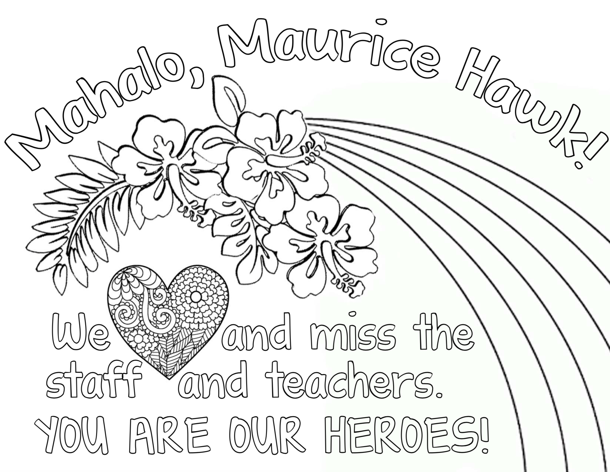 Maurice Hawk PTA Virtual Staff Appreciation Week May 4 – 8, 2020
